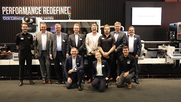 Group photo of team Canon at Labelexpo Europe 2019